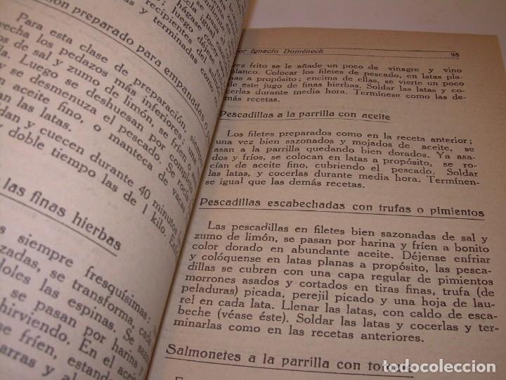 Libros antiguos: LIBRO DE NUEVAS CONSERVAS Y DULCES...AÑO 1925 - Foto 9 - 137446206