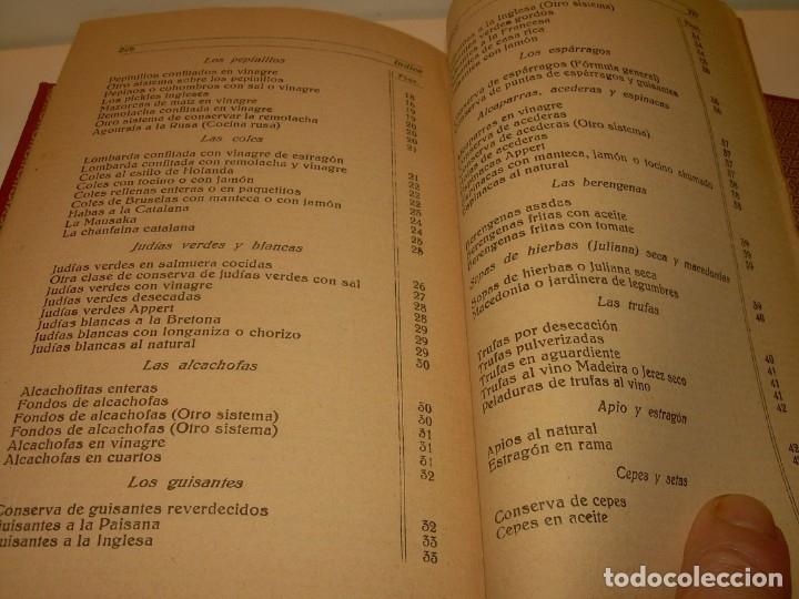 Libros antiguos: LIBRO DE NUEVAS CONSERVAS Y DULCES...AÑO 1925 - Foto 14 - 137446206