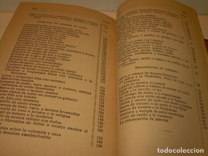 Libros antiguos: LIBRO DE NUEVAS CONSERVAS Y DULCES...AÑO 1925 - Foto 17 - 137446206