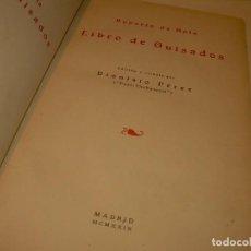 Libros antiguos: LIBRO DE LOS GUISADOS...AÑO 1929. Lote 137446606
