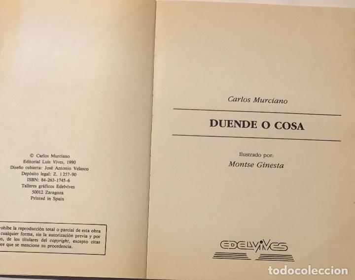 Libros antiguos: ALA DELTA-EDELVIVES-Nº103-DUENDE O COSA(9€) - Foto 2 - 137447590