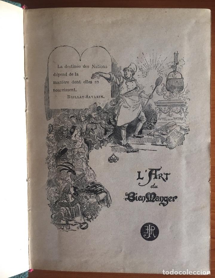 Libros antiguos: COCINA CUISINE- L´ART DU BIEN MANGER- VINS- EDMON RICHARDIN- PARIS 1.913- MAS DE 2.000 RECETAS - Foto 2 - 137533754