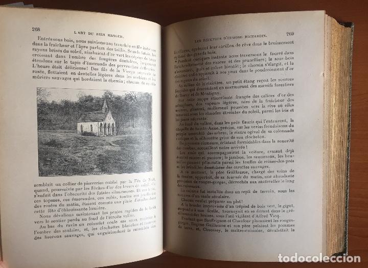 Libros antiguos: COCINA CUISINE- L´ART DU BIEN MANGER- VINS- EDMON RICHARDIN- PARIS 1.913- MAS DE 2.000 RECETAS - Foto 4 - 137533754
