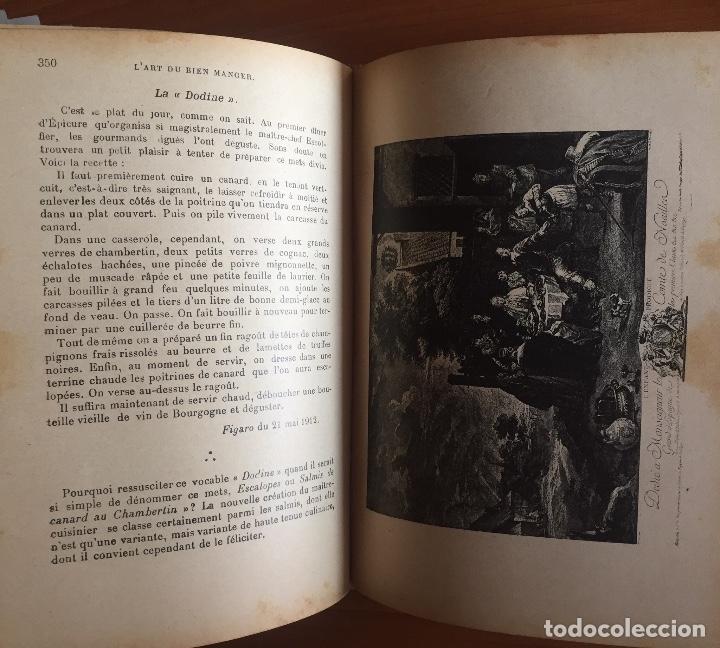 Libros antiguos: COCINA CUISINE- L´ART DU BIEN MANGER- VINS- EDMON RICHARDIN- PARIS 1.913- MAS DE 2.000 RECETAS - Foto 5 - 137533754