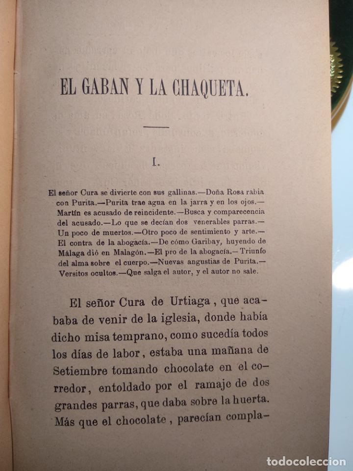 Libros antiguos: EL GABÁN Y LA CHAQUETA POR DON ANTONIO DE TRUEBA - TOMOS 1 Y 2 - MADRID - EL COSMOS EDITORIAL - 1884 - Foto 3 - 137542074