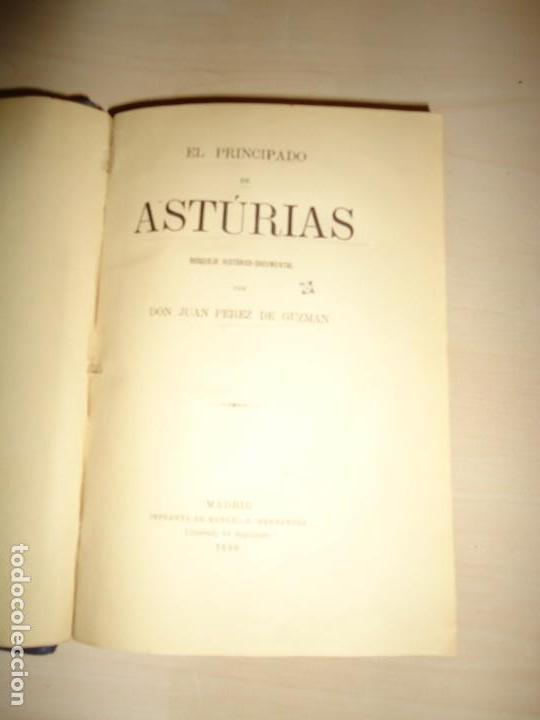Libros antiguos: EL PRINCIPADO DE ASTURIAS. JUAN PÉREZ DE GUZMÁN. 1880. DEDICATORIA A FERNÁNDEZ DURO - Foto 3 - 137567510