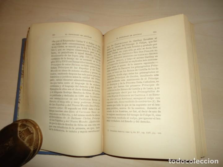 Libros antiguos: EL PRINCIPADO DE ASTURIAS. JUAN PÉREZ DE GUZMÁN. 1880. DEDICATORIA A FERNÁNDEZ DURO - Foto 4 - 137567510