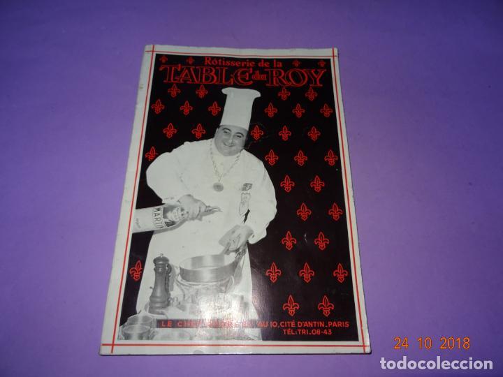 ANTIGUO CATÁLOGO ROTISSERIE DE LA TABLE DU ROY CON EL CHEF GEORGES DEL RESTAURANTE LEDOYEN (Libros Antiguos, Raros y Curiosos - Cocina y Gastronomía)