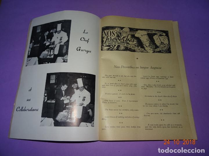 Libros antiguos: Antiguo Catálogo ROTISSERIE de la TABLE DU ROY con el Chef GEORGES del Restaurante LEDOYEN - Foto 3 - 137672170