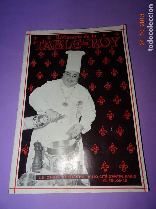 Libros antiguos: Antiguo Catálogo ROTISSERIE de la TABLE DU ROY con el Chef GEORGES del Restaurante LEDOYEN - Foto 4 - 137672170