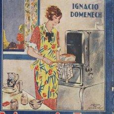 Libros antiguos: MARICHU LA MEJOR COCINERA ESPAÑOLA O TODOS LOS PLATOS DEL DÍA. - DOMÉNECH, IGNACIO.. Lote 123182372
