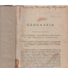 Libros antiguos - ANTIGUO LIBRO DE CONSTITUCION GEOGRAFICO-GEOLOGICA DE LA PENENSULA HISPANICA - 137710158