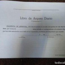 Libros antiguos: LIBRO DE ARQUEO DE CUENTAS PÚBLICAS AYUNTAMIENTOS DE DEL SIGLO XX. Lote 137741206