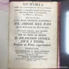Libros antiguos: GALICIA. AMIGOS PAÍS SANTIAGO. TIERRAS Y CULTIVO GALICIA Y ASTURIAS. SANTIAGO 1786. Lote 137800817