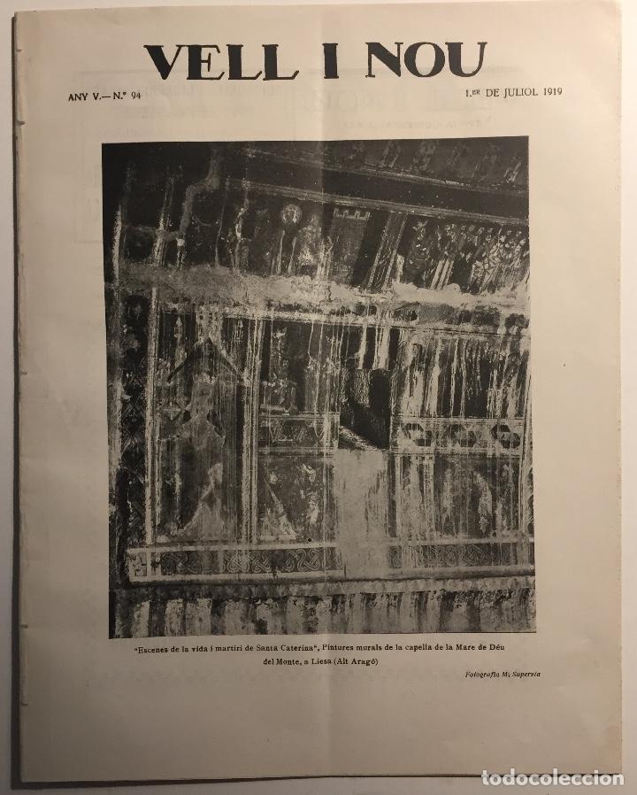 VELL I NOU. REVISTA QUINZENAL D'ART. AÑO V, N. 90, 1 MAYO 1919 (Libros Antiguos, Raros y Curiosos - Bellas artes, ocio y coleccionismo - Otros)