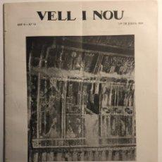 Libros antiguos: VELL I NOU. REVISTA QUINZENAL D'ART. AÑO V, N. 90, 1 MAYO 1919. Lote 137838278