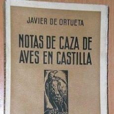 Libros antiguos: NOTAS DE CAZA DE AVES EN CASTILLA. FANFARRIA EN TONO MENOR. (1934). Lote 137868998