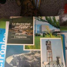 Libros antiguos: LA ELECTRICIDAD EN ESPAÑA. PREGUNTAS Y RESPUESTAS. Lote 137878978