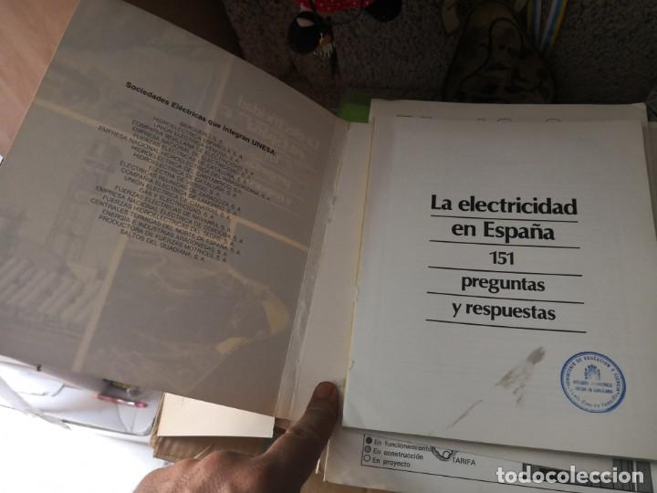 Libros antiguos: La electricidad en España. Preguntas y respuestas - Foto 3 - 137878978