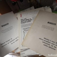 Libros antiguos: 3 DOSSIER PIRELLI CABLES ELECTRICIDAD. Lote 137880486