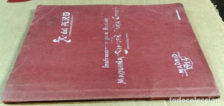 Libros antiguos: X. del Amo, Instrucciones para bordar con la máquina Singer para coser, Madrid, 1914 - Foto 2 - 137898090