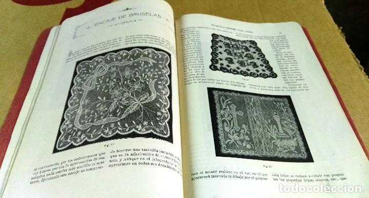Libros antiguos: X. del Amo, Instrucciones para bordar con la máquina Singer para coser, Madrid, 1914 - Foto 4 - 137898090