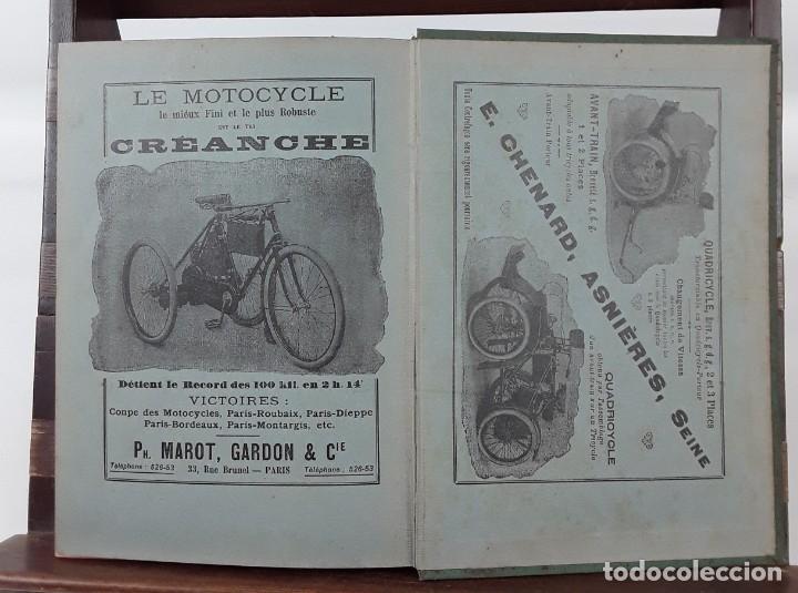Libros antiguos: 1797- 2 libros L'AUTOMOBILE THÉORIQUE ET PRATIQUE; 1899 - Foto 13 - 22507120