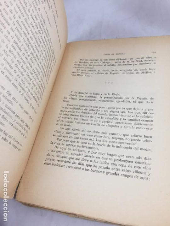 Libros antiguos: Vinos de España / prólogo de Federico García Sanchiz. Belda, Joaquin. 1929 - Foto 7 - 138089942