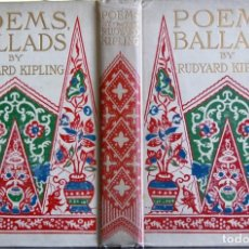 Libros antiguos: KIPLING, RUDYARD. POEMS AND BALLADS. 1899. Lote 138153942