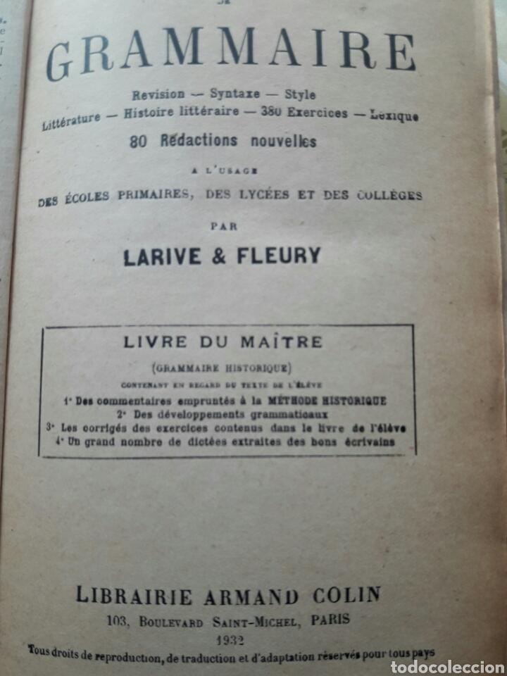 Libros antiguos: Cours GRAMMAIRE, 1932 - Foto 2 - 138540026