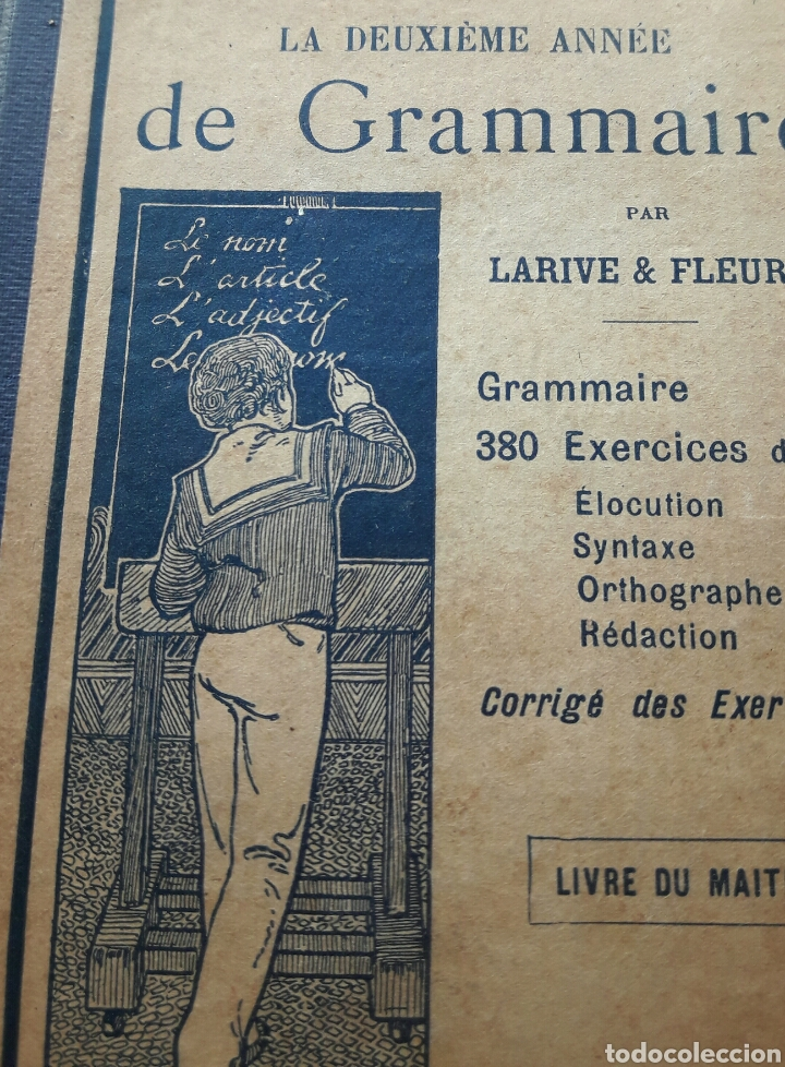 Libros antiguos: Cours GRAMMAIRE, 1932 - Foto 3 - 138540026