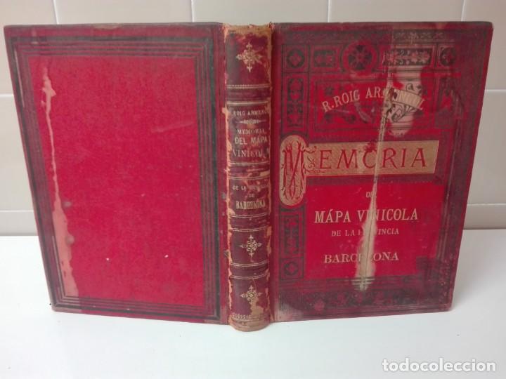 MEMORIA DEL MAPA VINICOLA DE LA PROVINCIA DE BARCELONA AÑO 1890 (Libros Antiguos, Raros y Curiosos - Bellas artes, ocio y coleccionismo - Otros)