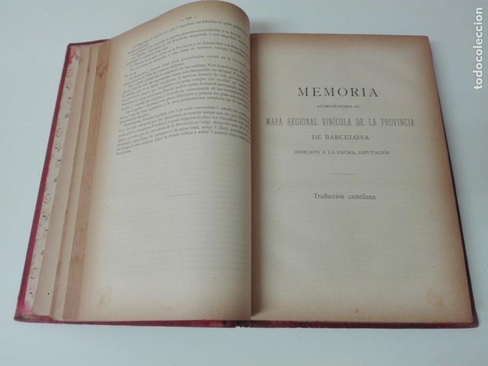 Libros antiguos: Memoria del mapa vinicola de la provincia de Barcelona año 1890 - Foto 5 - 138648482