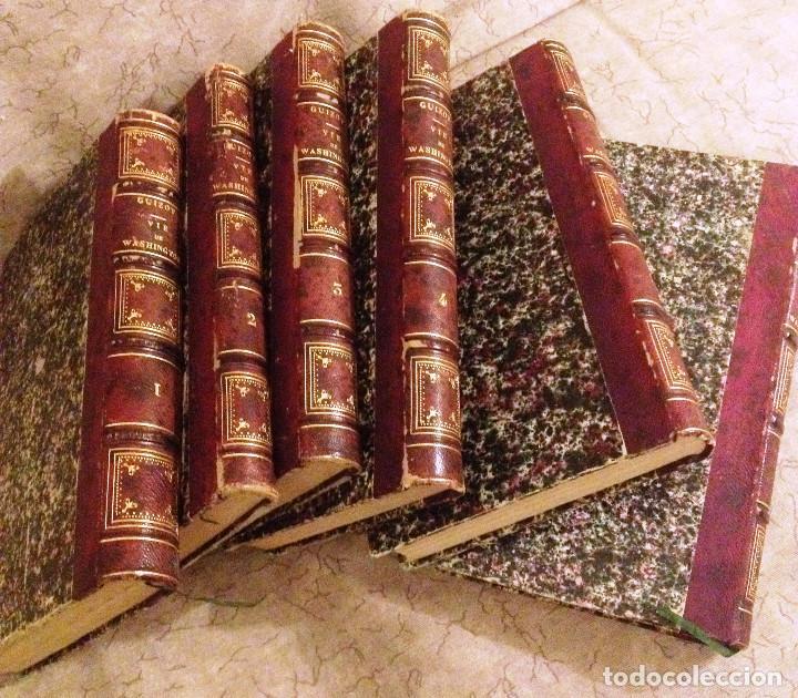 Libros antiguos: VIE, CORRESPONDENCE ET ESCRITS DE WASHINGTON- 1840- 6 TOMOS- M. GUIZOT- - Foto 2 - 138724570