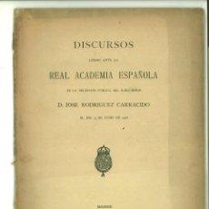 Libros antiguos: VALOR DE LA LITERATURA CIENTÍFICA HISPANO-AMERICANA. DISCURSO. JOSÉ RODRÍGUES CARRACIDO. Lote 138756866