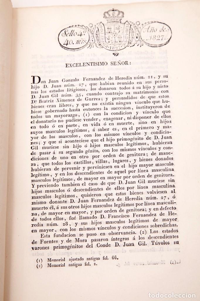 Libros antiguos: ALEGACION EN DERECHO POR DON JOSÉ MARIA PIGNATELLI EN EL PLEITO QUE SIGUE CONTRA DOÑA MARIA - Foto 6 - 138807746