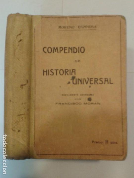 COMPENDIO DE HISTORIA UNIVERSAL 19?? ALFONSO MORENO ESPINOSA 20ª EDICIÓN ATLANTE (Libros Antiguos, Raros y Curiosos - Historia - Otros)