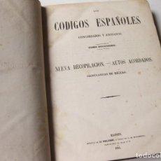 Libros antiguos: TOMO 12 DE LOS CÓDIGOS ESPAÑOLES CONCORDADOS Y ANOTADOS - 1851. ORDENANZAS DE BILBAO. 1 EDICION. Lote 139061338