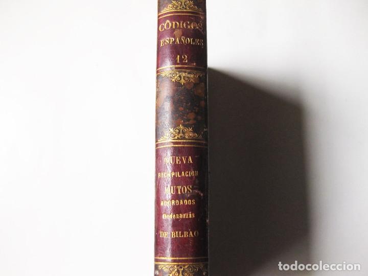 Libros antiguos: TOMO 12 DE LOS CÓDIGOS ESPAÑOLES CONCORDADOS Y ANOTADOS - 1851. ORDENANZAS DE BILBAO. 1 EDICION - Foto 2 - 139061338