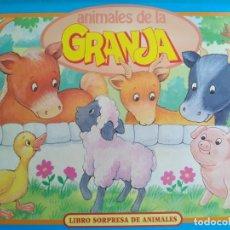 Libros antiguos: ANIMALES DE LA GRANJA. LIBRO SORPRESA DE ANIMALES.VER FOTOS ADICIONALES. Lote 139126106
