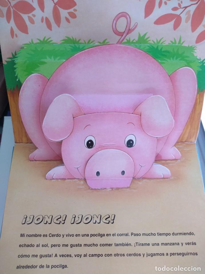 Libros antiguos: ANIMALES DE LA GRANJA. LIBRO SORPRESA DE ANIMALES.VER FOTOS ADICIONALES - Foto 2 - 139126106