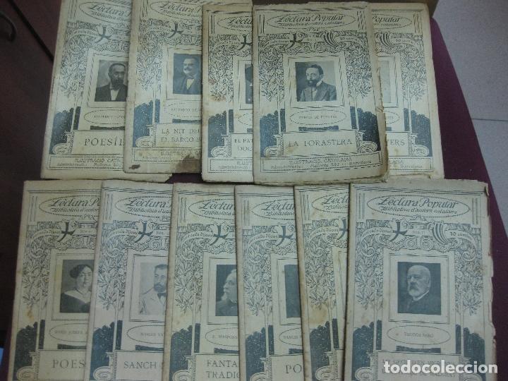 LECTURA POPULAR. BIBLIOTECA D'AUTORS CATALANS. 11 EJEMPLARES. VER DESCRIPCION...1913-1920 (Libros Antiguos, Raros y Curiosos - Literatura - Otros)