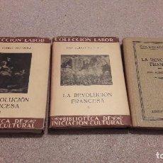 Libros antiguos: LA REVOLUCIÓN FRANCESA...TRES TOMOS..EDITORIAL LABOR...1935.... Lote 139172962