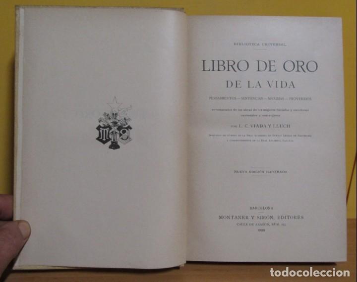 Libros antiguos: L.C. VIADA Y LLUCH - EL LIBRO DE ORO DE LA VIDA MONTANER Y SIMON EDITORES EDICON ILUSTRADA AÑO 1923 - Foto 2 - 139175498