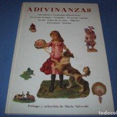 Libros antiguos: ADIVINANZAS, MARIA VALVERDE. Lote 139306182