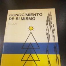 Libros antiguos: CONOCIMIENTO DE SI MISMO. Lote 139311406