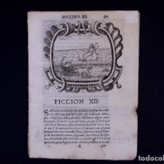 Libros antiguos: MÁXIMA XII DEL P. GARAY EL SABIO 1675. Lote 139322374