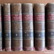 Libros antiguos: HISTORIA DE LOS VASCOS EN EL DESCUBRIMIENTO.....DE AMÉRICA.TOMOS DEL I AL VI. SEGUNDO DE ISPIZUA.. Lote 139347278
