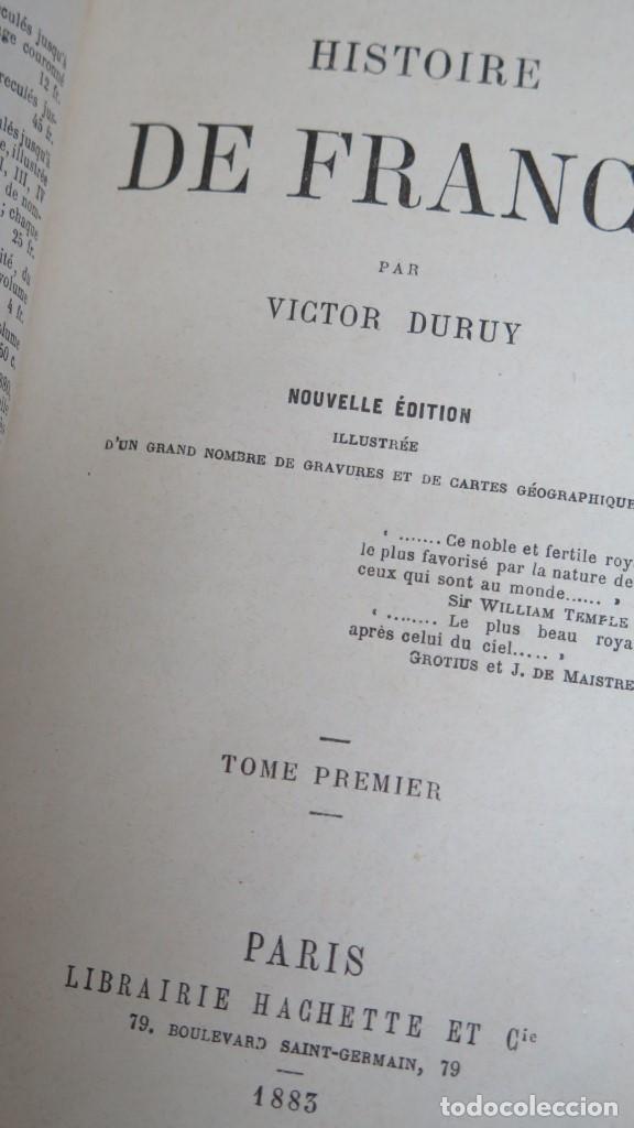 Libros antiguos: 1883.- HISTOIRE DE FRANCE. VICTOR DURUY. 2 TOMOS - Foto 3 - 139417842
