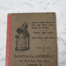 Libros antiguos: DAVEY'S LONDON CATÁLOGO INGLÉS LÁMPARAS LUCES BRÚJULAS BITÁCORA 1902 1903. Lote 139530894